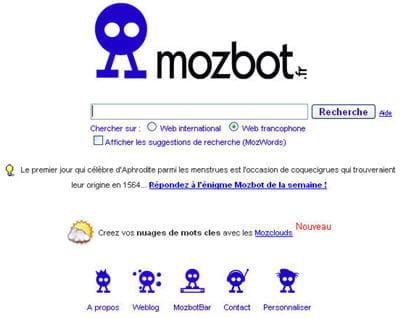 moteur de recherche mozbot