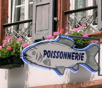 une poissonnerie normande.