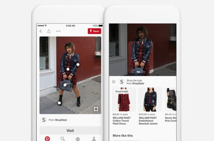 "Pinterest déploie sa fonctionnalité ""Shop the Look"" en France"