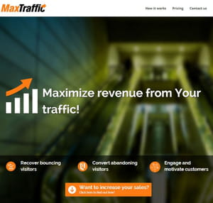 maxtraffic promet d'augmenter les ventes des e-commerçants.