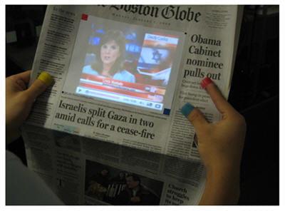 le journal papier devient vidéo et s'actualise.