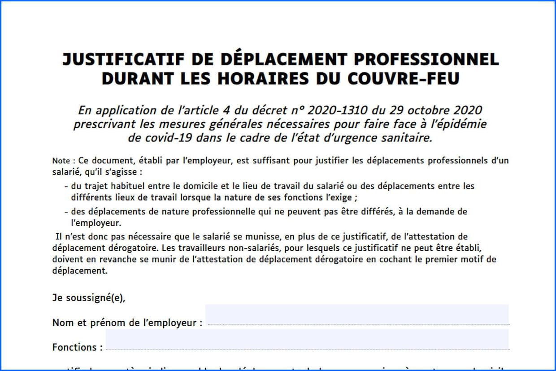 Attestation Employeur Covid Telechargez Le Justificatif