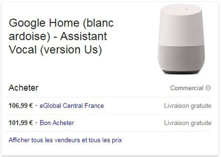 google home o acheter l 39 enceinte google en france et quel prix. Black Bedroom Furniture Sets. Home Design Ideas