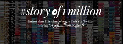 pour fêter son million de followers, vogue paris lance une grande opération sur