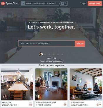 sparechair, l'airbnb du coworking