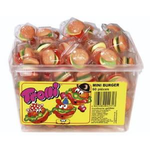 les bonbons en forme de hamburgers sont un des best-sellers de la marque trolli.