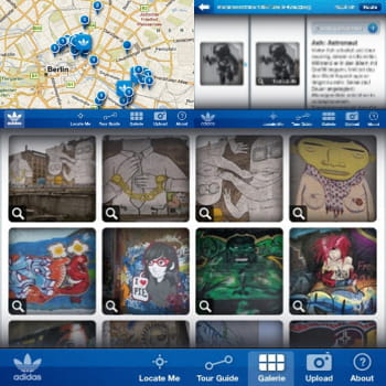 l'application adidas urban art guide