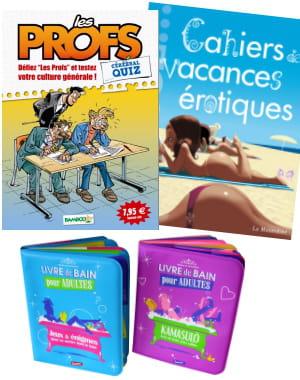version bd, érotique, ou livres imperméables : des cahiers de vacances