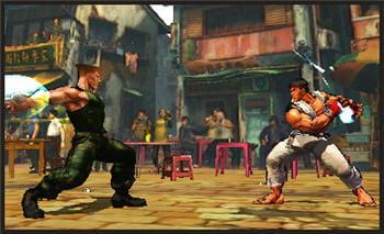 capture d'écran de l'édition 3ds de super street fighter 4