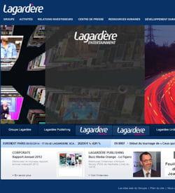 capture d'écran groupe lagardère