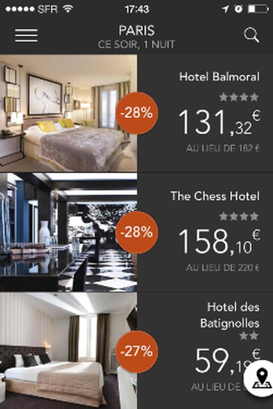 Hoteltonight verylastroom qu 39 apportent aux h teliers for Hotel reservation derniere minute