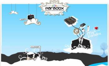 visuel extrait du site de l'agence paradox.