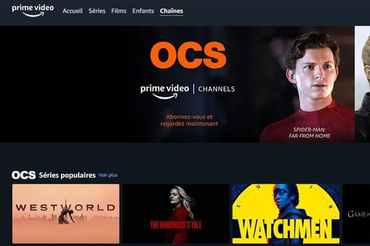 Amazon Prime Video: un mois d'abonnement à OCS offert en France