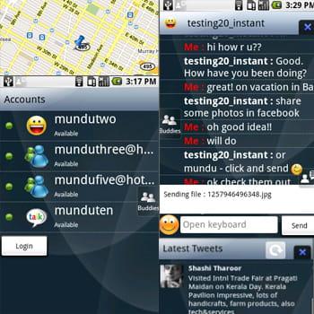 captures d'écran de la version android de mundu im