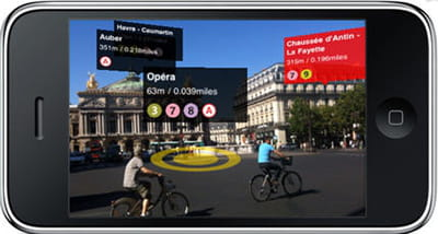indication des directions des stations de métro en réalité augmentée