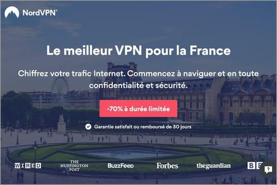 NordVPN: le VPN star est à -70%, soit 3,11euros par mois
