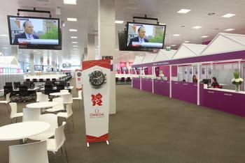 la salle de presse flambante neuve pourra accueillir jusqu'à 6000journalistes.