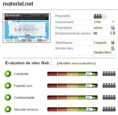 copie d'écran du service en ligne wot sur chrome.