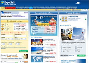 page d'accueil expedia
