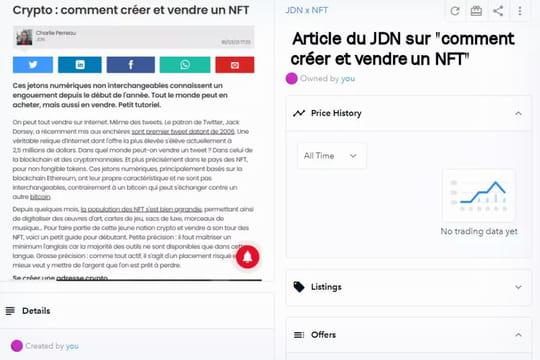Comment créer et vendre un NFT… comme cet article
