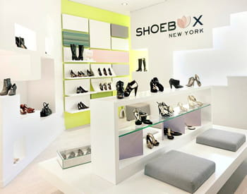 un magasin shoebox new york.