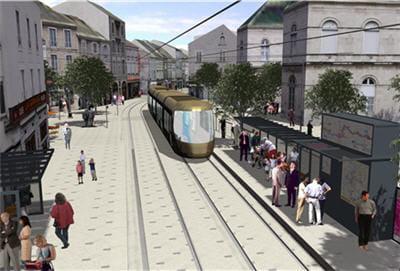 un projet d'urbanisme, de rénovation de rues d'orléans travaillé sous nova