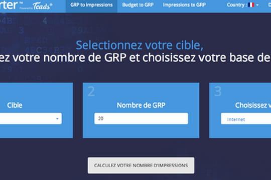 Teads lance le GRP Converter, un outil pour convertir les impressions en GRP