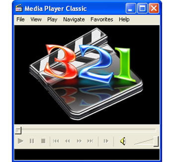 l'interface minimaliste de media player classic.