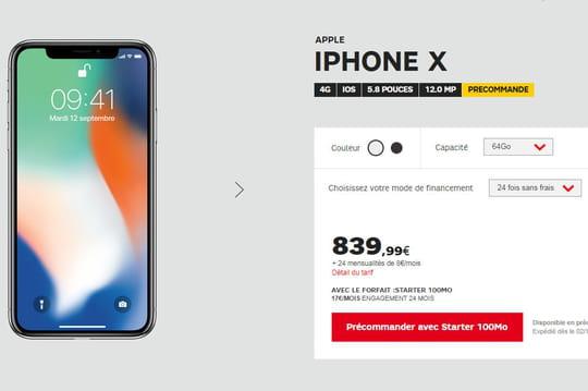 iPhone X: découvrez les prix en précommande