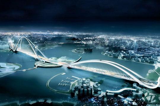 Un pont géant à Dubaï