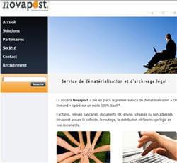 novapost, solution de dématérialisation et d'archivage pour les entreprises