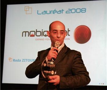 reda zitouni, p-dg et co-fondateur de mobiquant, lauréat 2008 du prix de