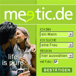 exemple d'une campagne d'affiliation de meetic en allemagne.