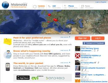mobnotes est un réseau social mobile géolocalisé