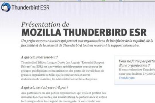 Thunderbird 17 : une nouvelle version taillée pour les entreprises