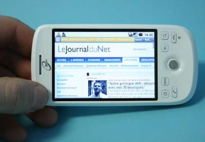 la navigation web en mode horizontale permet une grande visibilité.