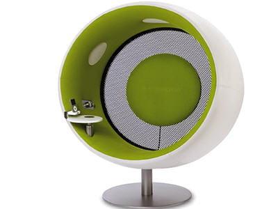 un siège sonore, qui crée une bulle immersive autour de vous
