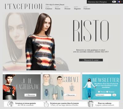 page d'accueil de lexception.com