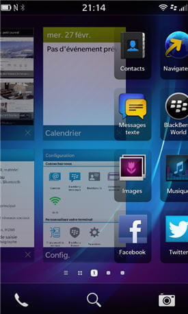 le blackberry 10 propose une interface graphique visuellement moderne et
