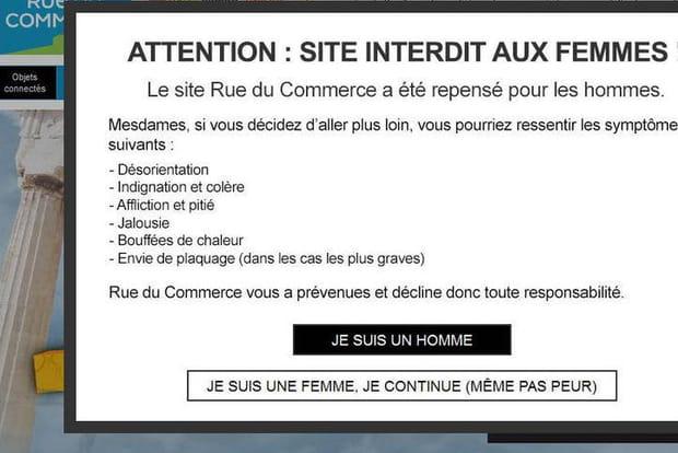 Rue du Commerce buzz sexiste