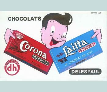 laitta était la marque de chocolat au lait, corona, celle des tablettes de