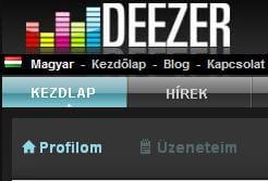 site de deezer en hongrois