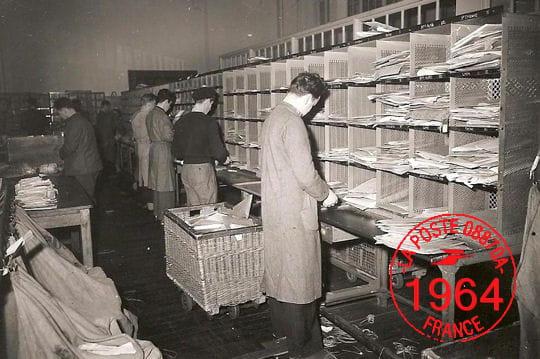 En 1964, le code postal n'existe pas....