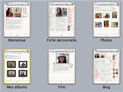 avec iweb, on crée un site à partie d'un modèle