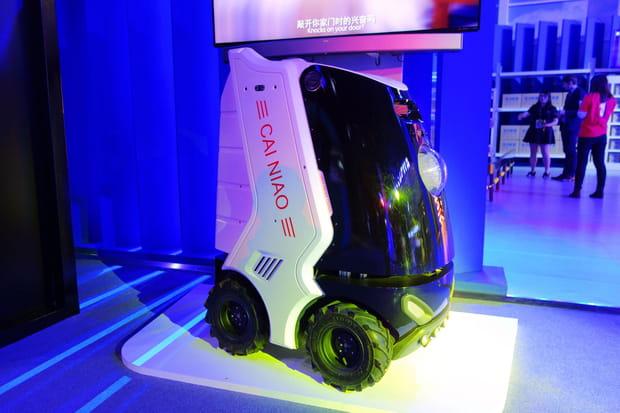 Un drone roulant qui arpente déjà le campus d'Alibaba