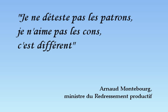 Arnaud Montebourg, irrévérencieux