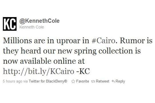 Kenneth Cole, décidément...