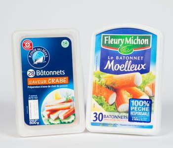 le surimi de leclerc est vendu 1,24euro moins cher que celui defleury michon