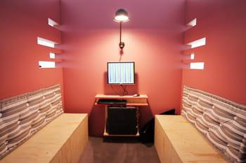 salle de réunion sur un des plateaux.