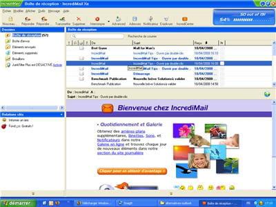 le logiciel de messagerie incredimail